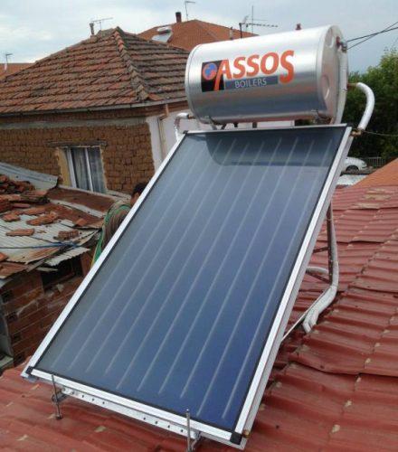 Ηλιακός Θερμοσίφωνας ASSOS/HELIOAKMI 160lt στη Βεργίνα