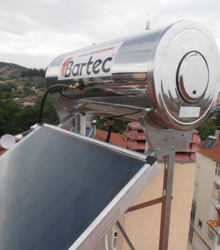 Ηλιακός Θερμοσίφωνας Bartec 160lt στη Βέροια
