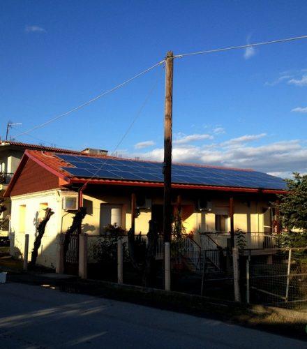 Φωτοβολταϊκό Σύστημα ισχύος 10kW στο Μακροχώρι Ημαθίας
