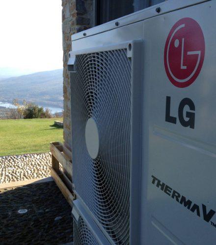 Αντλία θερμότητας LG Therma V 16kW στη Ραχιά