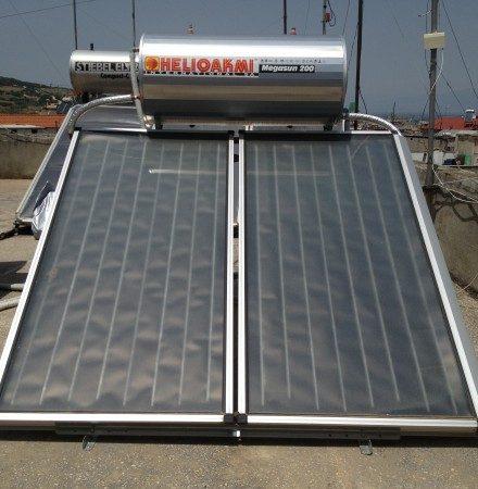Ηλιακός Θερμοσίφωνας HELIOAKMI 200lt στη Βέροια