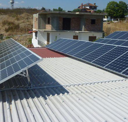 Φωτοβολταϊκό Σύστημα ισχύος 9,84kW στο Ριζό Πέλλας