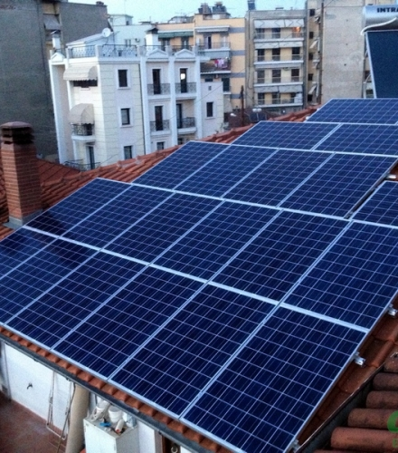 Φωτοβολταϊκό Σύστημα ισχύος 5,25kW στη Βέροια