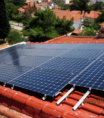 Φωτοβολταϊκό Σύστημα ισχύος 9,81kW στο Ωραιόκαστρο Θεσσαλονίκης