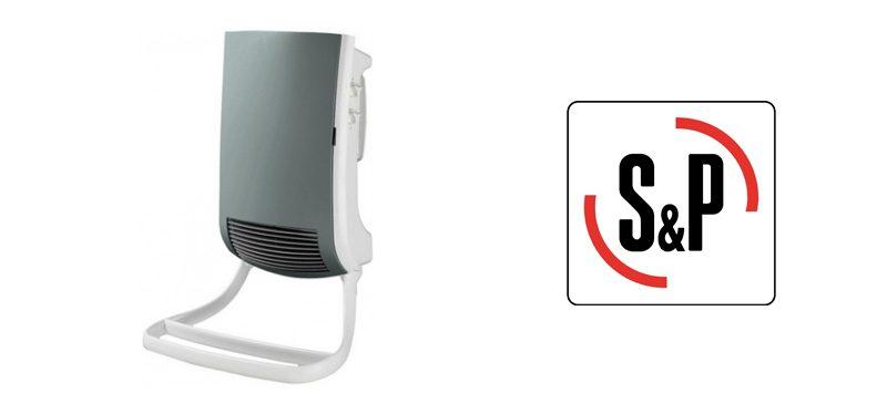 S&P CB/TS 1000/1800 WATT Αερόθερμο μπάνιου επίτοιχο