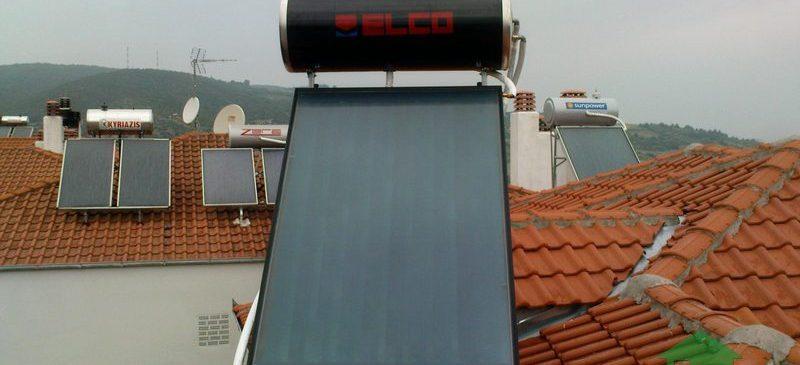 Ηλιακός Θερμοσίφωνας ELCO 160lt στη Βέροια