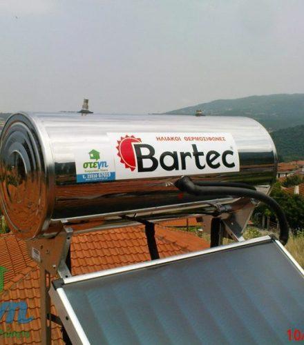 Ηλιακός θερμοσίφωνας Bartec 160lt στα Ριζώματα