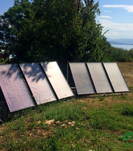 Ηλιοθερμικό Σύστημα Helional Heliopool για θέρμανση πισίνας στη Κέρκυρα
